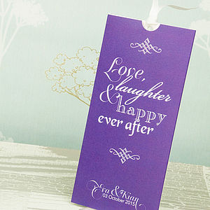 Love Laughter Wallet Wedding Invitation
