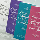 Love Laughter 3-fold Wedding Invitation in Hot Pink