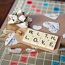 'With Love' Vintage Scrabble Gift Tag