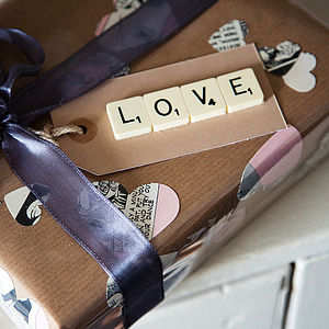 'Love' Vintage Scrabble Gift Tag - DIY favours