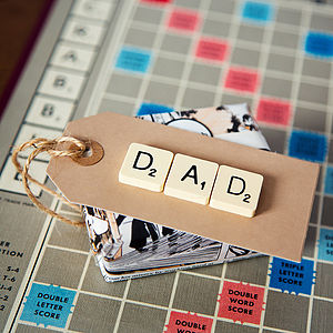 'Dad' Vintage Scrabble Gift Tag