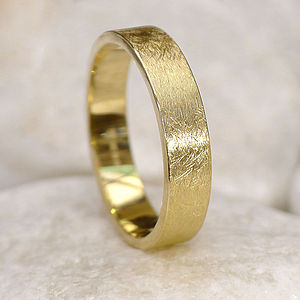 Mens Wedding Ring In 18ct Gold, Urban Finish - rings