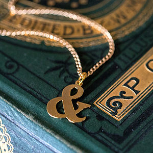 Ampersand Gold Necklace - necklaces & pendants