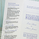 Wordie 3-Fold Wedding Invitation in Lilac