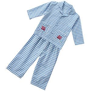 Blue Gingham Pj's - nightwear