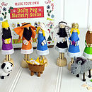 Thumb make your own dolly peg nativity