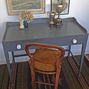 Painted British Made Desk In Downpipe Grey