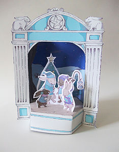 Christmas Paper Theatre With Singing Rabbits - christmas parties & entertaining