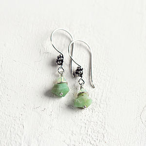 Handmade Chrysoprase And Crystal Earrings - earrings