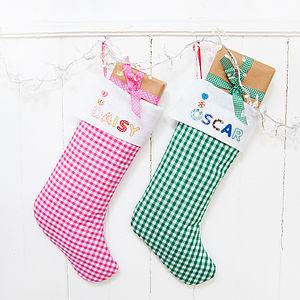 Personalised Christmas Stocking - stockings & sacks
