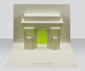 Arc De Triomphe Paris Pop Up Card
