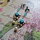 Jenna Dangle Turquoise Earrings