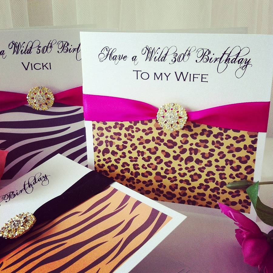 animal print personalised birthday card by made with love designs – Zebra Print Birthday Cards