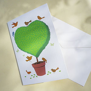 Topiary Heart Occasion Card - personalised cards