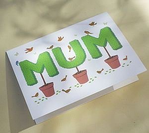 Topiary Mum Gift Card - mother's day cards & wrap