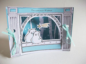Christmas Mini Theatre Polar Bear Card - cards