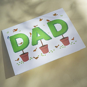 Topiary Dad Gift Card - father's day cards