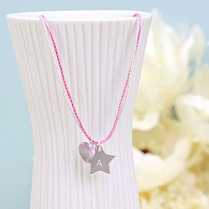 Personalised Pink Cotton Star Necklace - necklaces & pendants