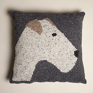 Knitted Terrier Cushion - cushions