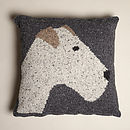 Knitted Terrier Cushion
