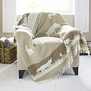 Rabbit Design Wool Throw