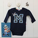 Personalised Applique Boy Princeton Bodysuit