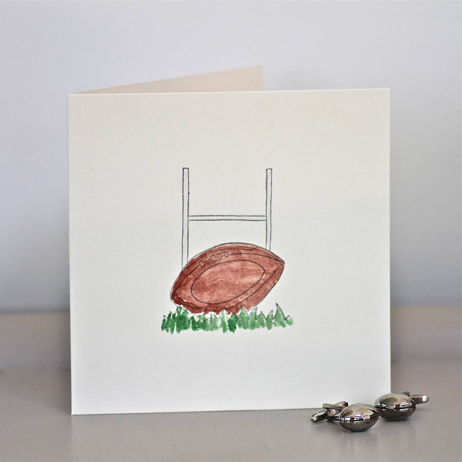 handmade rugby birthday card by chapel cards | notonthehighstreet.com