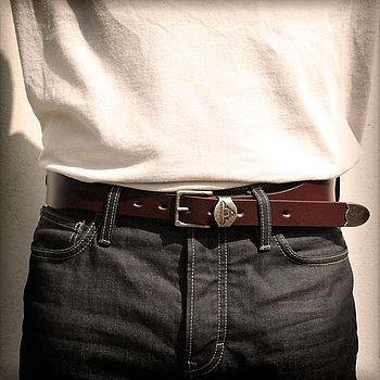 Newton Abbot Handmade Tapered Leather Belt