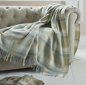 Huntingtower Design Wool Throw - throws, blankets & fabric