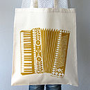 Printed Accordion Illustrated Tote Bag