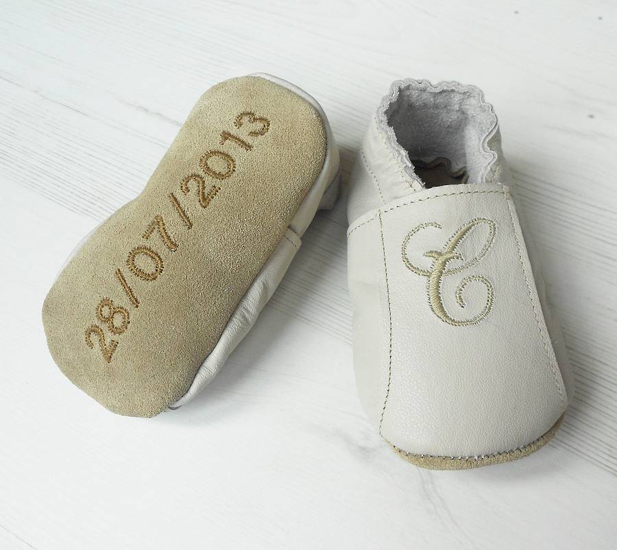 fb1b5ace54ef7 Personalised Baby Shoe With Birth Details