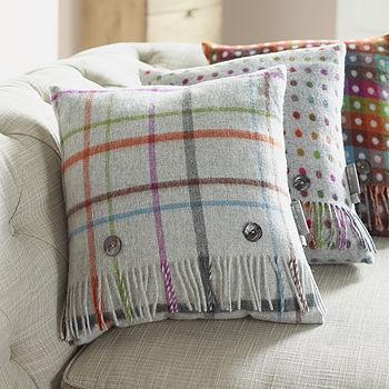 Rainbow Multi Checked Cushion