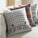 Rainbow Spot Wool Cushion