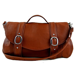 Handcrafted Tan Leather 'Preston' Bag - shoulder bags