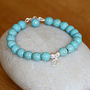 Personalised Turquoise & Silver Bracelet