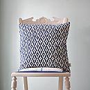 Navy Aztec Cushion