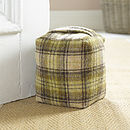 Checked Wool Door Stop