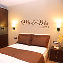 Mr And Mrs Wall Sticker
