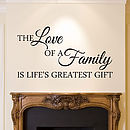 Family Quote Wall Sticker