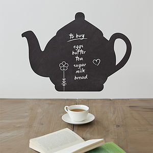 Tea Pot Write And Erase Wall Sticker