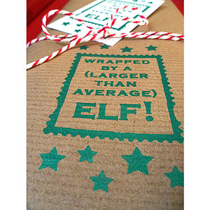 Large Elf! Handmade Christmas Gift Wrapping