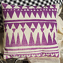 Screen Printed Tribal Mini Cushion