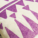 Screen Printed Tribal Mini Cushion