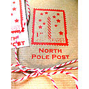 North Pole Handmade Christmas Wrapping Paper