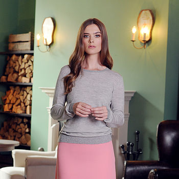 Cashmere Round Neck Sweater With Lurex