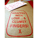 'Clumsy Fingers!' Handmade Wrapping Paper