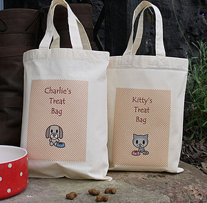 Personalised Pet 'Treat' Bag - food, feeding & treats