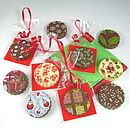 Ten Chocolate Christmas Tree Decorations
