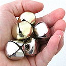 Pack Of Five Christmas Jingle Bells 25mm