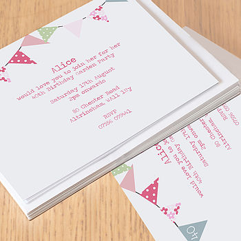 12 Personalised Party Invitations